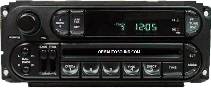 Chrysler Dodge Jeep Cd Radio P56038589an