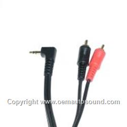 2.5 RCA 4MM Cellphone, aux audio cable