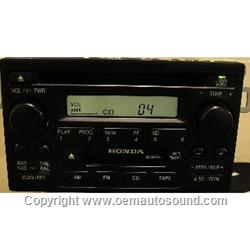 Honda 1998-2002 CD Player radio 39101-S84-A510