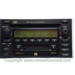 Toyota indash CD changer radio jbl 1998 TO 2003