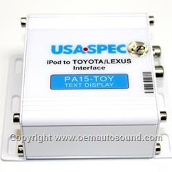 Acura SLX iPod interface PA15-TOY