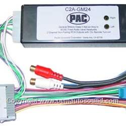 Add an aftermarket amplifier GM vehicles 2 channels w remote