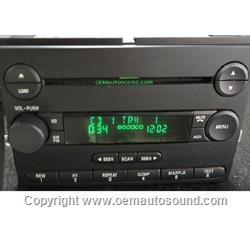 2004-2007 Ford F-150,Mustang am/fm single cd playe 4L3T-18C815-AM